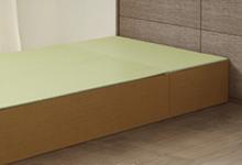 カラー樹脂素材の置き畳の写真