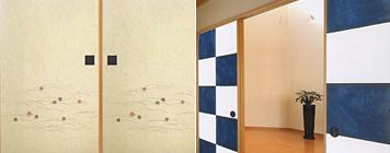 和紙の襖紙:画像