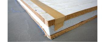 木質ボードと発砲素材の畳床:写真