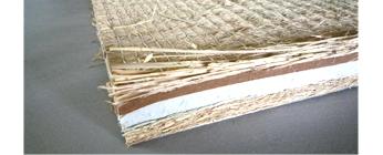 稲ワラと発砲素材のハイブリット畳床:写真
