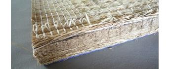 昔ながらの稲ワラの畳床:写真